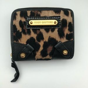 Juicy couture leopard terry cloth wallet